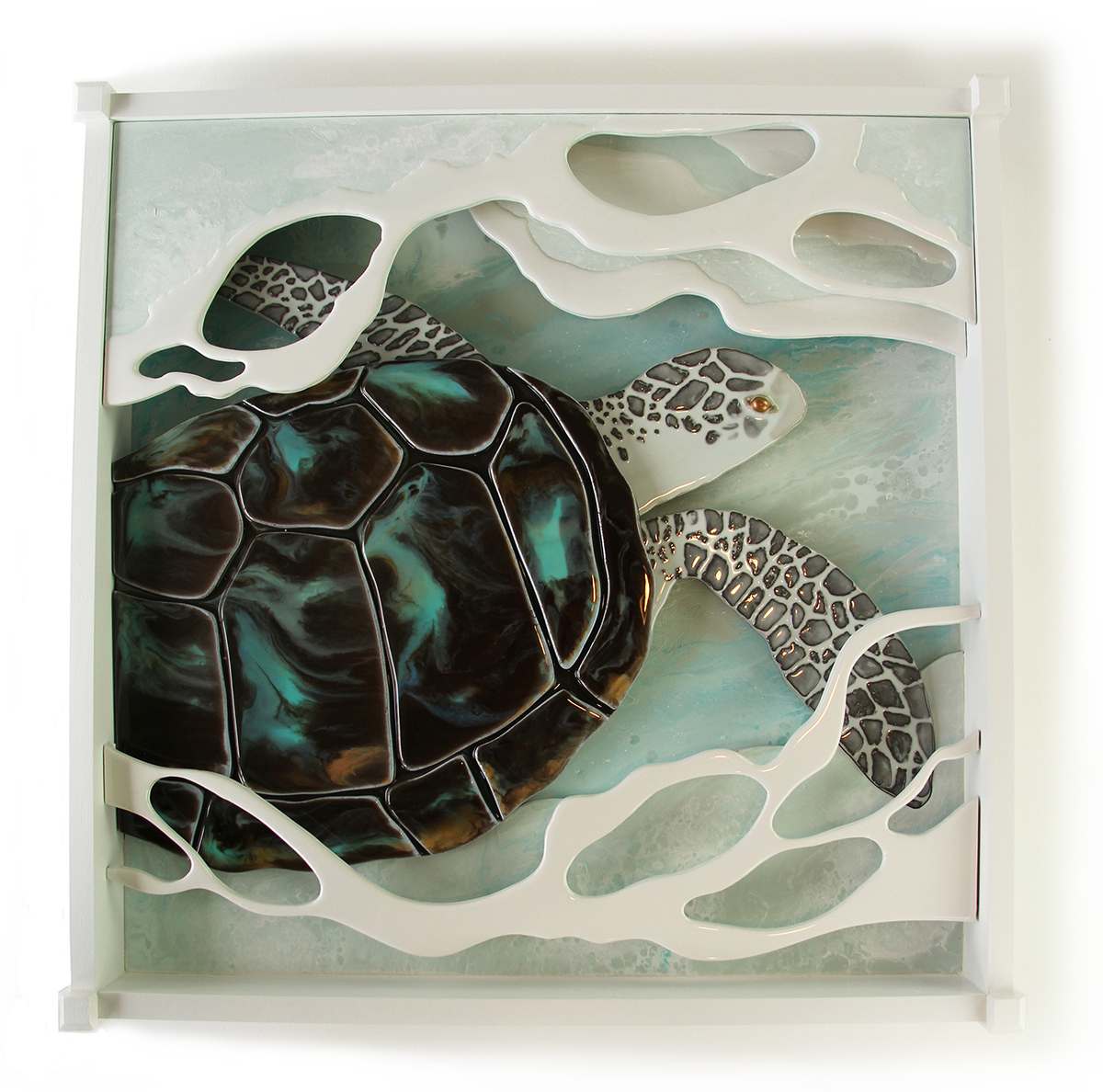 Resin Wall Art sea turtle in resin – eleos studio